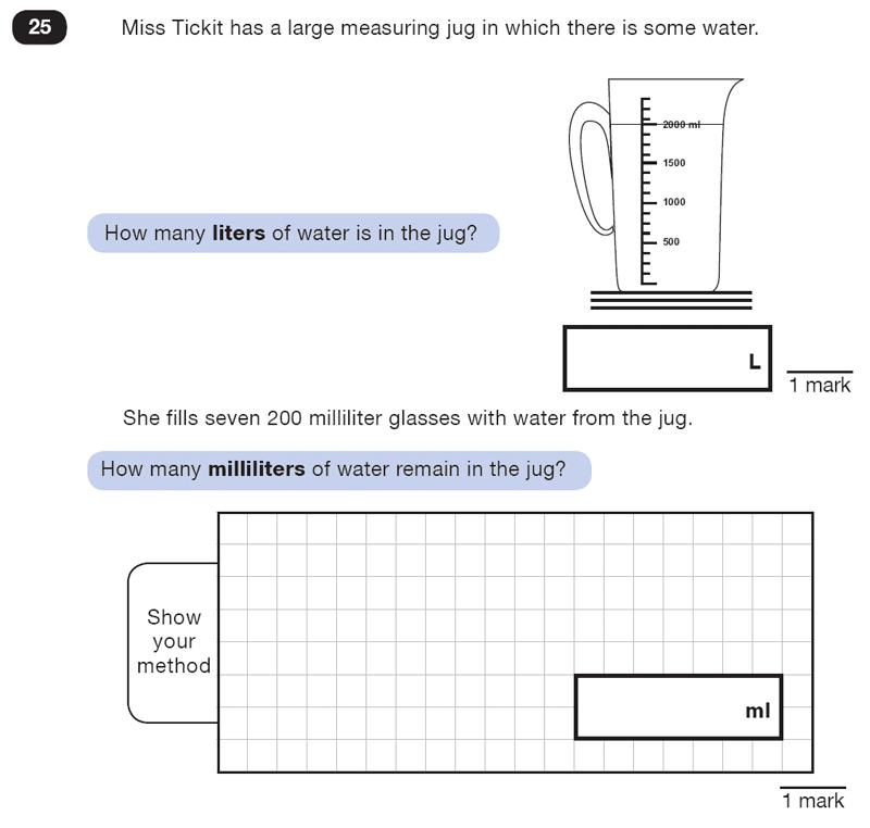 Question 25 Maths KS2 SATs Test Paper 5 - Reasoning Part B