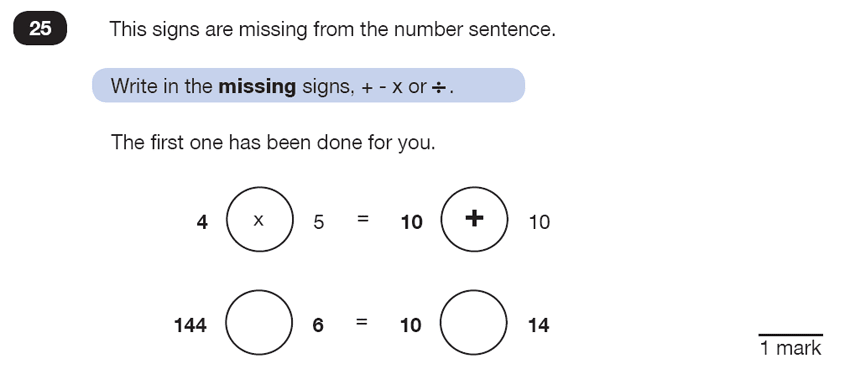 Question 25 Maths KS2 SATs Test Paper 6 - Reasoning Part C