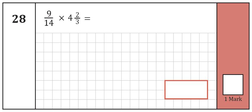 Question 28 Maths KS2 SATs Test Paper 8 - Arithmetic Part A
