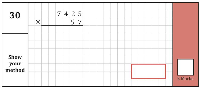 Question 30 Maths KS2 SATs Test Paper 7 - Arithmetic Part A