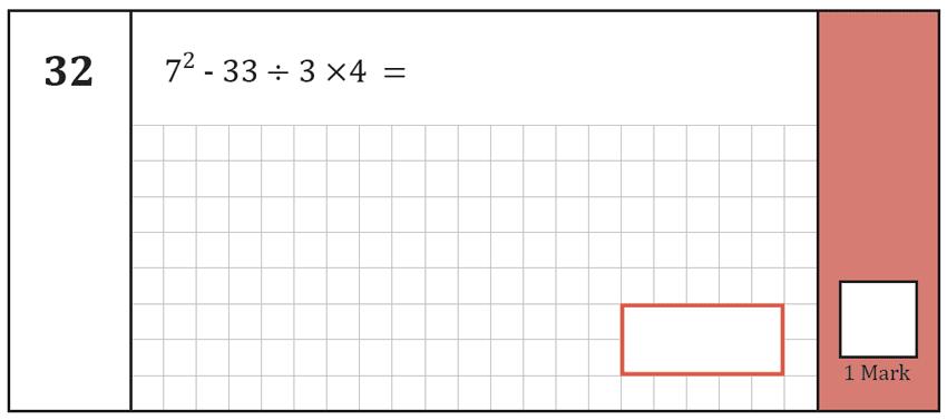Question 32 Maths KS2 SATs Test Paper 2 - Arithmetic Part A