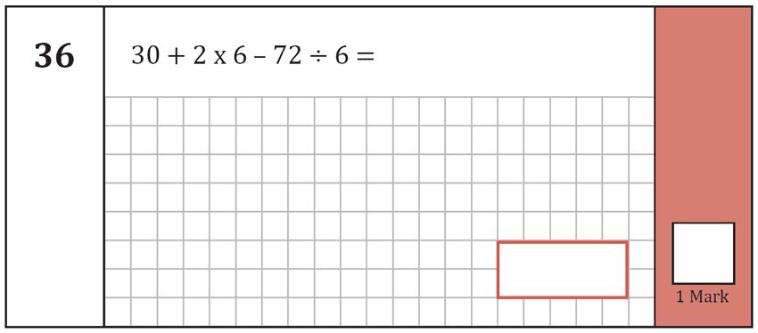 Question 36 Maths KS2 SATs Test Paper 5 - Arithmetic Part A