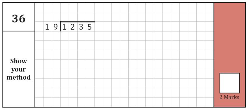 Question 36 Maths KS2 SATs Test Paper 7 - Arithmetic Part A