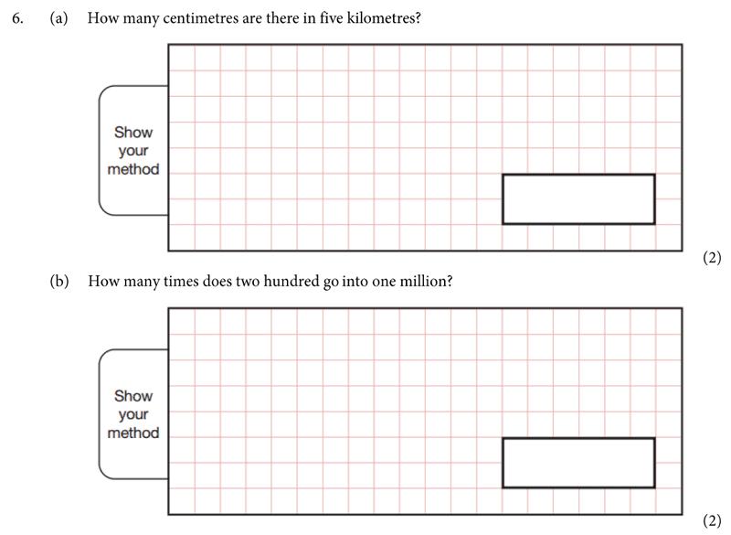 St Albans School - 11 Plus Maths Entrance Exam Paper 2019 Question 06, Numbers, Division, Measurement, Unit Conversions