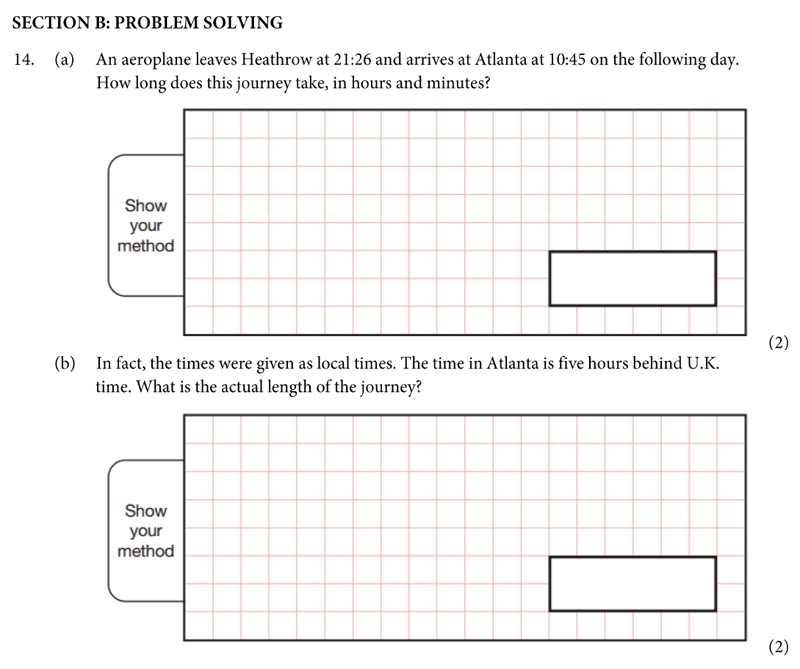 St Albans School - 11 Plus Maths Entrance Exam Paper 2019 Question 14, Numbers, Word Problems, Time, Logical Problems