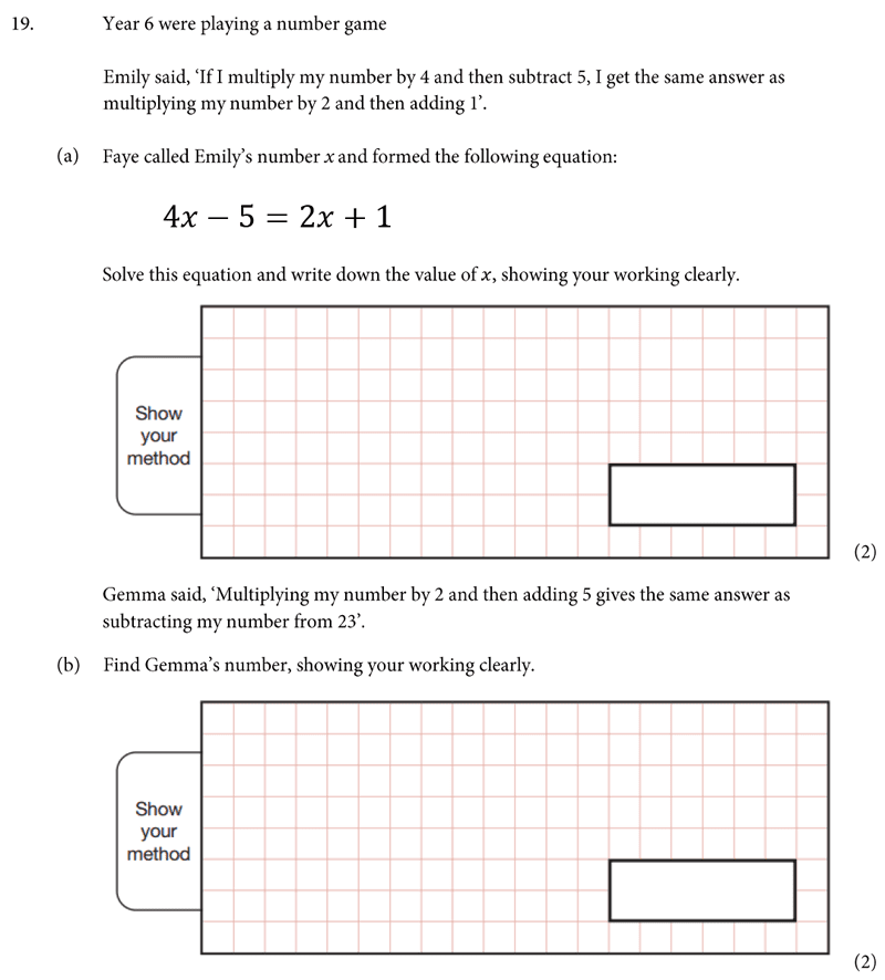 St Albans School - 11 Plus Maths Entrance Exam Paper 2019 Question 20, Numbers, Word Problems, Algebra, Linear Equations, Logical Problems