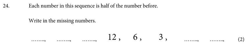St Albans School - 11 Plus Maths Entrance Exam Paper 2019 Question 25, Number Patterns and Sequences