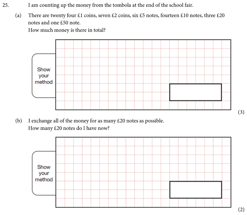 St Albans School - 11 Plus Maths Entrance Exam Paper 2019 Question 26, Numbers, Addition, Multi Level Word Problems, Division, Rounding, Money