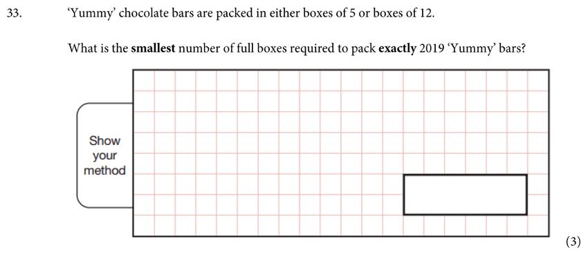 St Albans School - 11 Plus Maths Entrance Exam Paper 2019 Question 35, Numbers, Word Problems, Algebra, BIDMAS, Logical Problems
