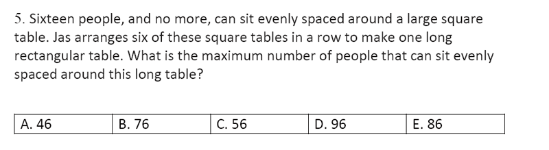 Streatham and Clapham High School - 11+ Maths Entrance Exam Section A and B 2019 Question 33, Numbers, Word Problems, Logical Problems