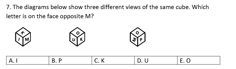 Streatham and Clapham High School - 11+ Maths Entrance Exam Section A and B 2019 Question 35, Numbers, Word Problems, Logical Problems, Geometry, Cubes and Cuboids
