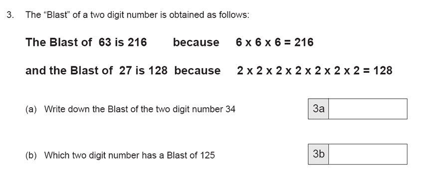 The Manchester Grammar School 11 Plus Papers Arithmetic B - 2019 Question 05, Numbers, Factors, Multiples, Logical Problems