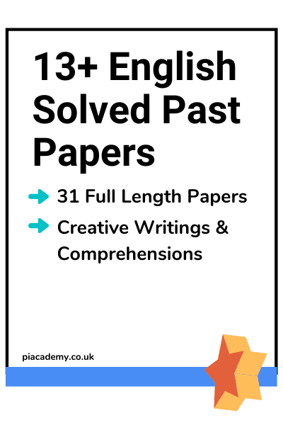 13 Plus English Past Papers - Product Page