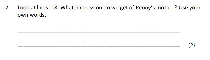 Bancroft's School - 11 Plus Entrance Examination English Paper 2017 Question 02