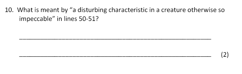 Bancroft's School - 11 Plus Entrance Examination English Paper 2017 Question 10