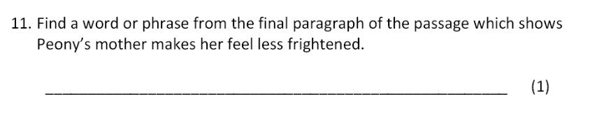 Bancroft's School - 11 Plus Entrance Examination English Paper 2017 Question 11