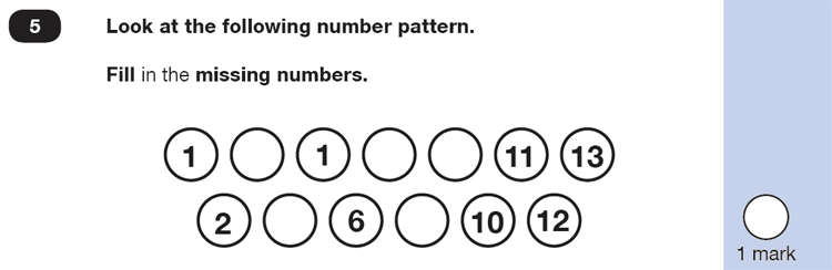 Question 05 Maths KS1 SATs Practice Paper 5 - Reasoning Part B, Numbers, Even and Odd, Counting forward, Calculations, Addition