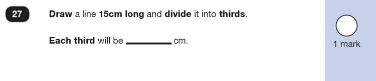 Question 27 Maths KS1 SATs Exam Paper 6 - Reasoning Part B, Measurement, Ruler Measurement