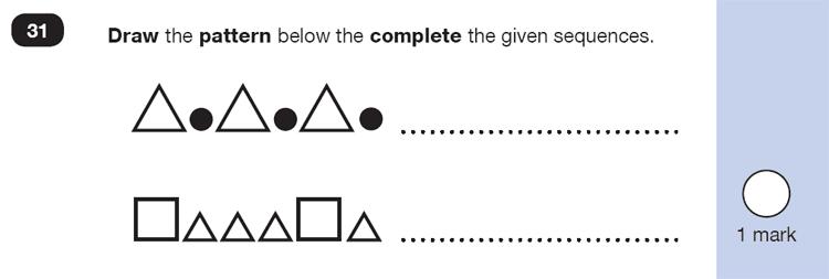 Question 31 Maths KS1 SATs Test Paper 4 - Reasoning Part B, Geometry, 2D shapes, Draw Shapes