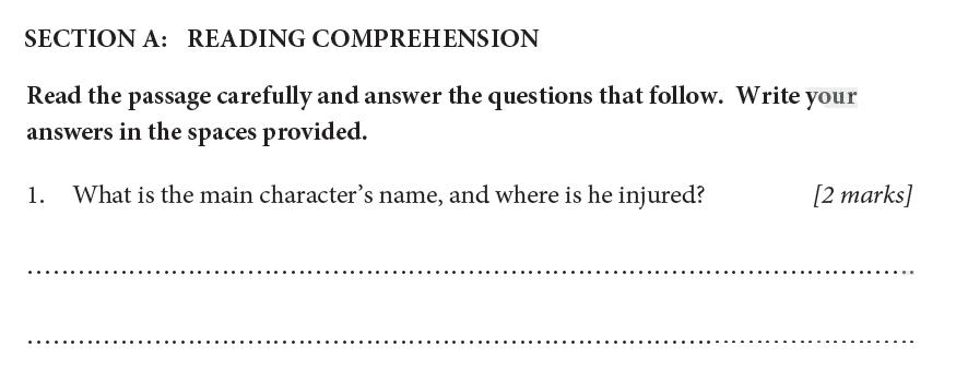 St Albans School - 11 Plus English Entrance Exam Paper 2019 Question 01