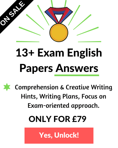13 Plus English Past Papers - Advert