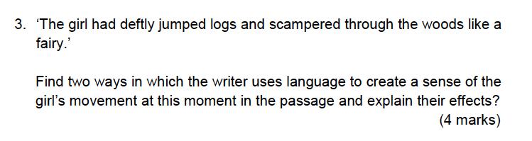 Alleyns School - 13 Plus English Sample Exam Paper 2 Question 03
