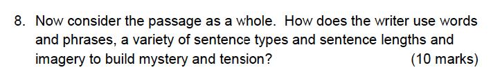 Alleyns School - 13 Plus English Sample Exam Paper 2 Question 08