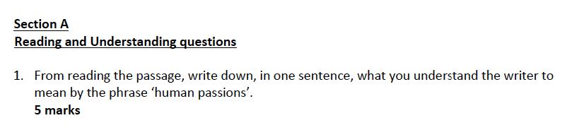 Kent College - 13 Plus English Sample Paper Question 01