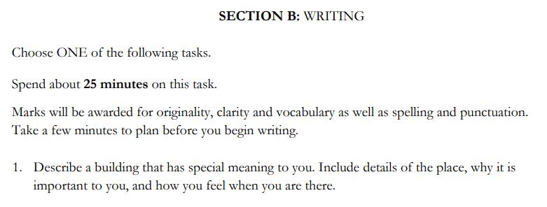 St Edwards School, Oxford - 13 Plus English Entrance Exam Creative Writing Question 01