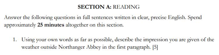 St Edwards School, Oxford - 13 Plus English Entrance Exam Question 01