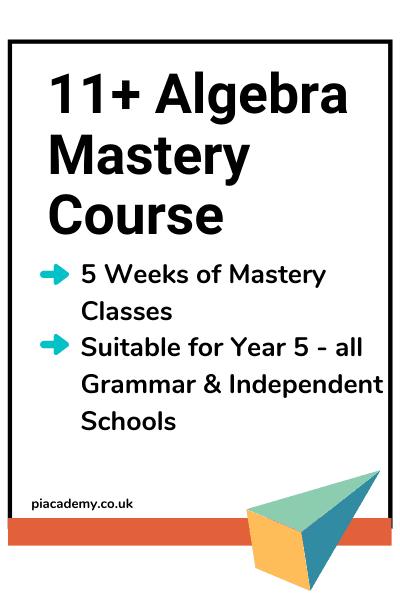 11 Plus Online School - Advance Algebra Crash Course