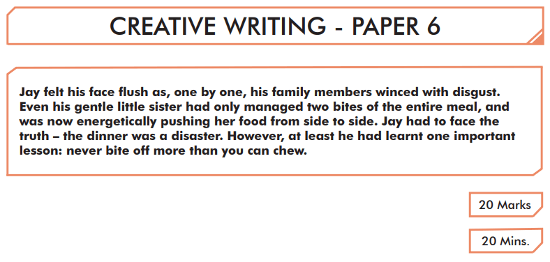 English Creative Writing Paper 6 - Question 01