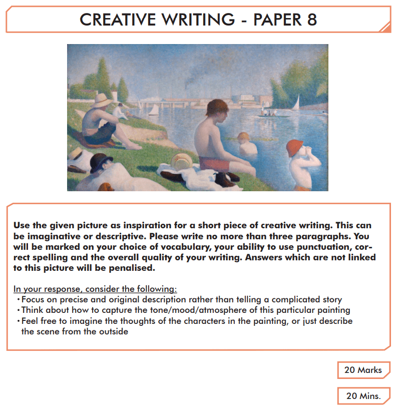 English Creative Writing Paper 8 - Question 01