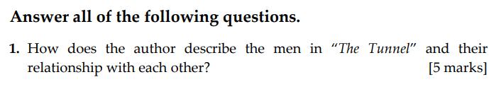 Sevenoaks School - Year 9 English Sample Paper 2009 Question 01