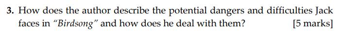 Sevenoaks School - Year 9 English Sample Paper 2009 Question 03