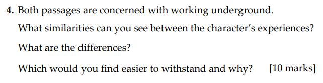 Sevenoaks School - Year 9 English Sample Paper 2009 Question 04
