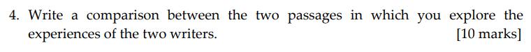 Sevenoaks School - Year 9 English Sample Paper 2011 Question 04