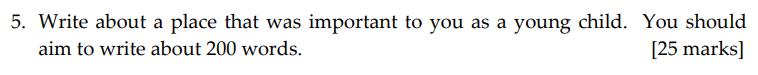 Sevenoaks School - Year 9 English Sample Paper 2011 Question 05