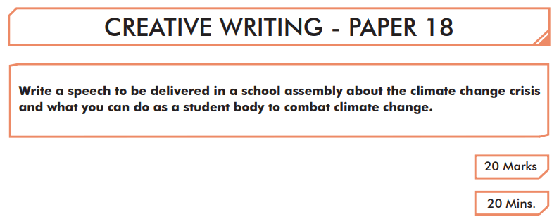 English Creative Writing Paper 18 - Question 01