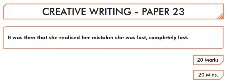 English Creative Writing Paper 23 - Question 01