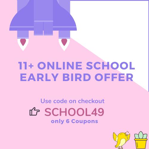 11 Plus Online School Massive Early Bird Offer - Sidebar