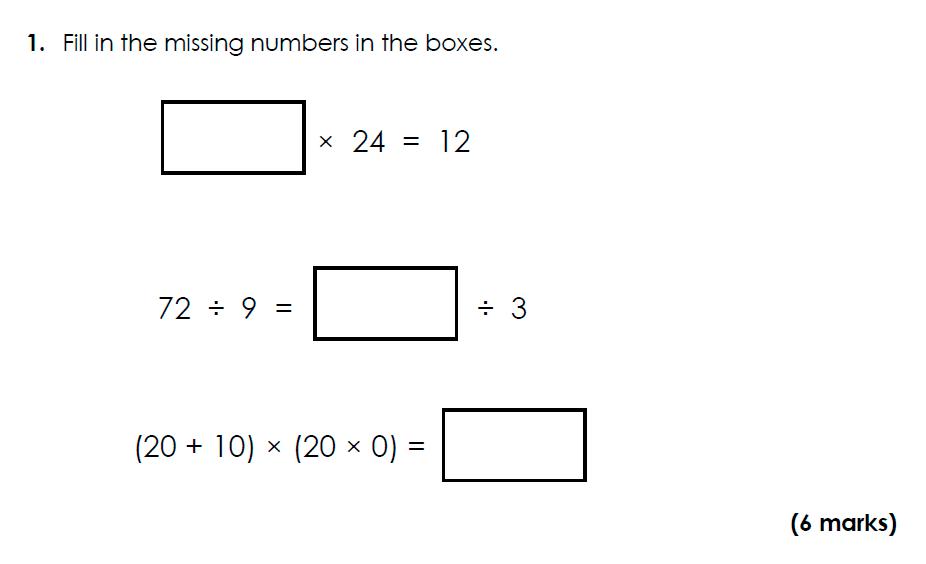 Bancroft's School - 11 Plus Maths Sample Paper 2021 entry Question 02