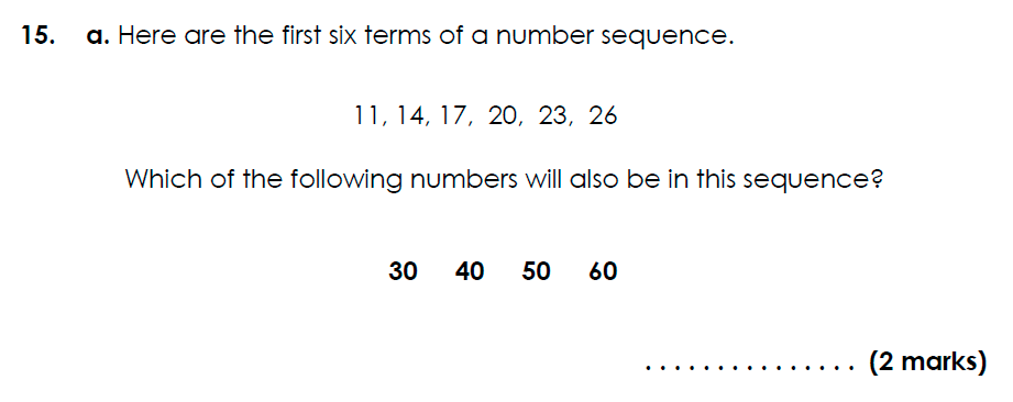 Bancroft's School - 11 Plus Maths Sample Paper 2021 entry Question 17