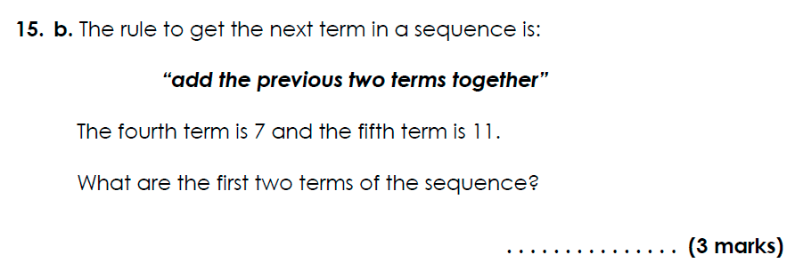 Bancroft's School - 11 Plus Maths Sample Paper 2021 entry Question 18
