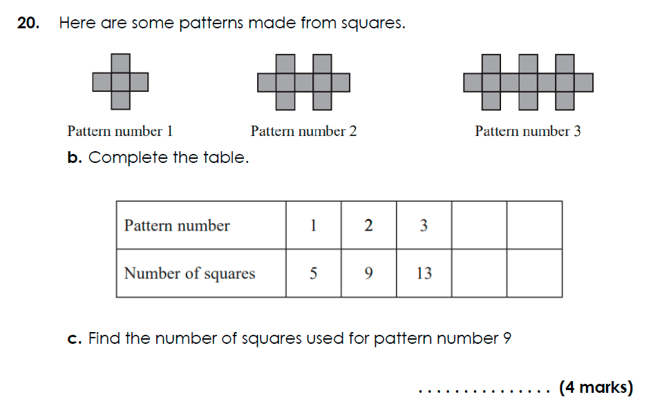 Bancroft's School - 11 Plus Maths Sample Paper 2021 entry Question 24