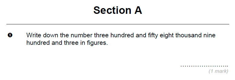 Brentwood school - 11 Plus Maths Sample Paper Question 01