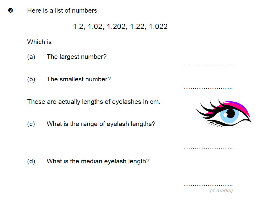 Brentwood school - 11 Plus Maths Sample Paper Question 03