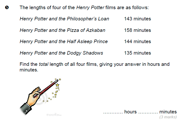 Brentwood school - 11 Plus Maths Sample Paper Question 05