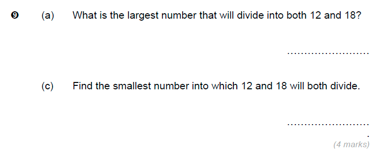 Brentwood school - 11 Plus Maths Sample Paper Question 09