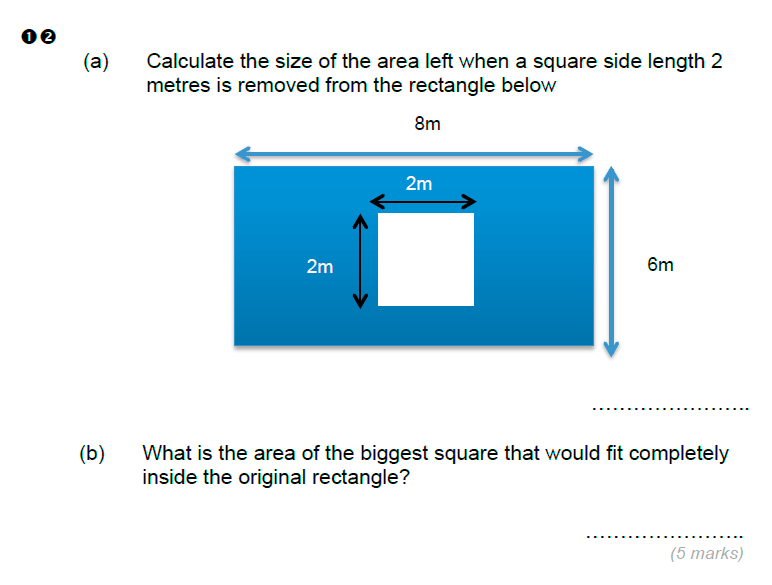 Brentwood school - 11 Plus Maths Sample Paper Question 12